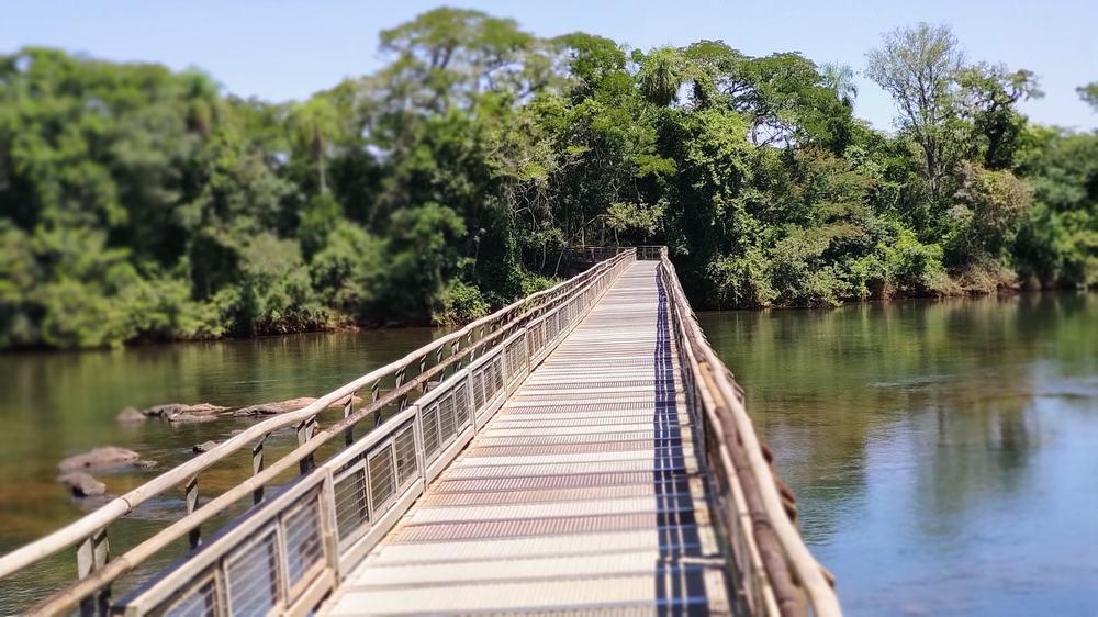 pasarelas sobre el rio Iguazu